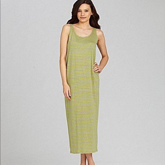 d403a060f0c2 Eileen Fisher Dresses   Dragonfly Linen Striped Dress Oval M   Poshmark